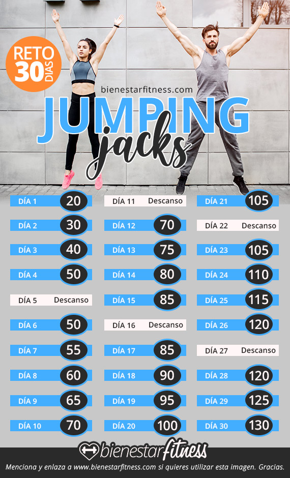 reto fitness jumping jack