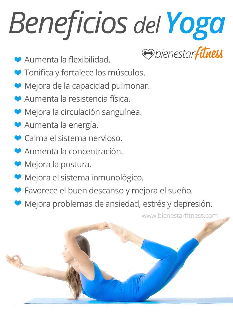 Infografia de los beneficios de hacer yoga